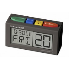 MED-01V Talking clock with 6 recordable voice memory prompts assignable to daily alarms