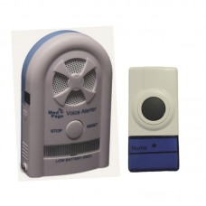 CTMV-NDB Recordable voice alarm receiver with wireless doorbell button