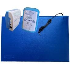 TumbleCare Floor pressure mat bed exit alarm with portable carer alarm (TUMFMDRXTK)