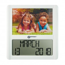 VISO5 Digital large LCD clock with integral photo frame